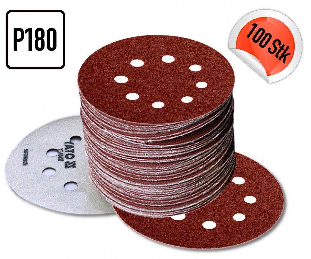 K/örnung:P180 5 BIS 250 ST/ÜCK P180 Klett Schleifscheiben Haftschleifscheiben Schleifpapier Menge:250 St/ück Durchmesser:/Ø 125 mm