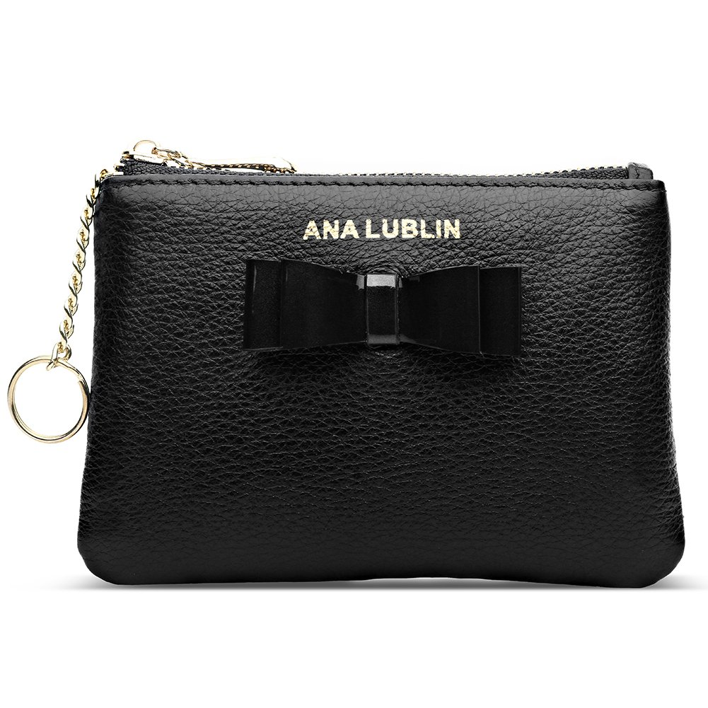 ANA LUBLIN leather Wallet Small Coin Purse Women RFID Blocking Mini Money Pocket