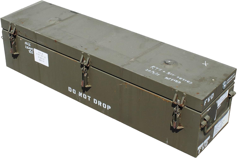 Detalles acerca de nosotros ejército verde oliva grande caja de munición de metal CNU 317 Bomba parte caja de transporte contenedor Grade 1: Amazon.es: Bricolaje y herramientas