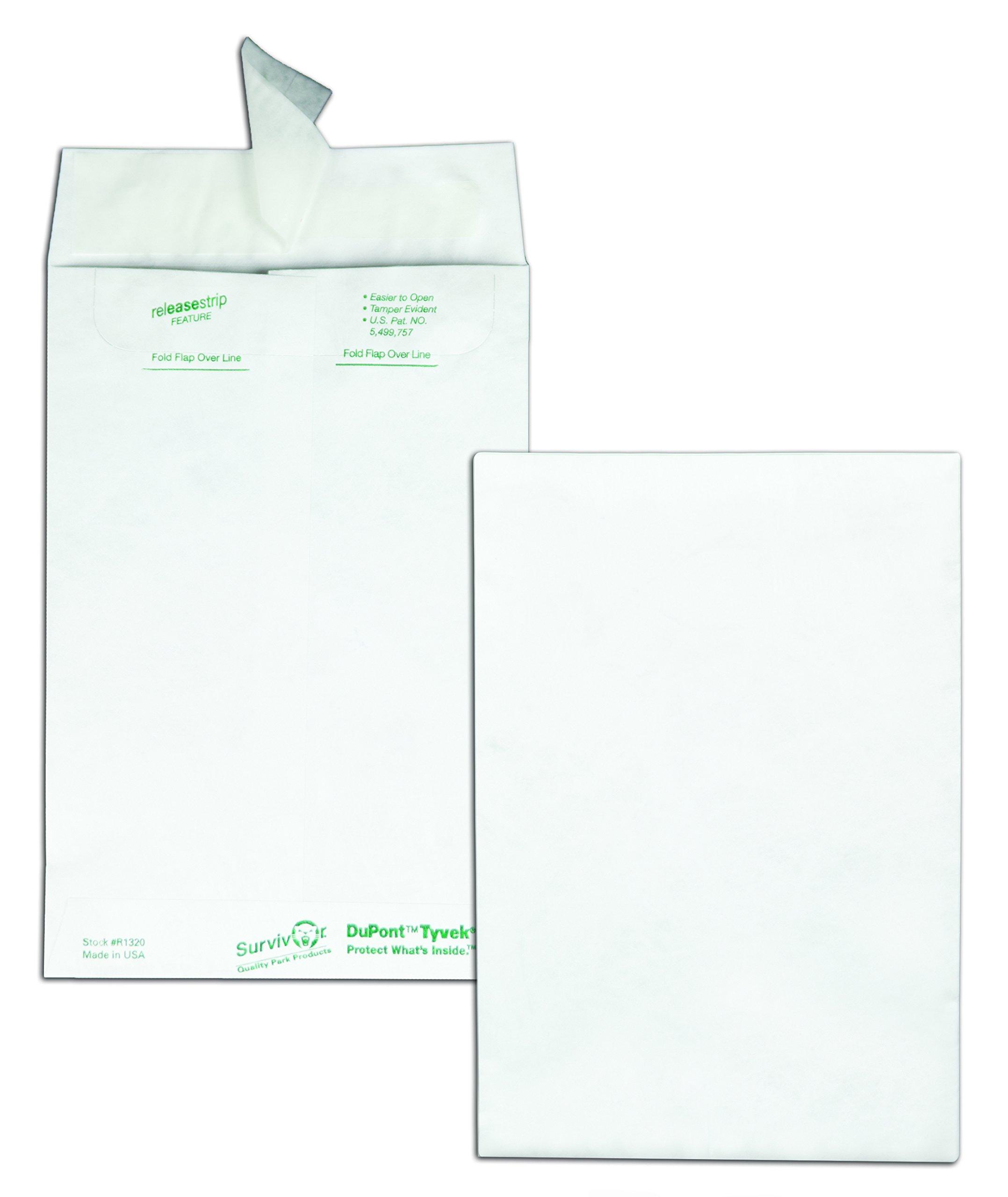 Quality Park tyvek Catalog Envelope, 6 inches x 9 inches, White 100 Envelopes (R1320)