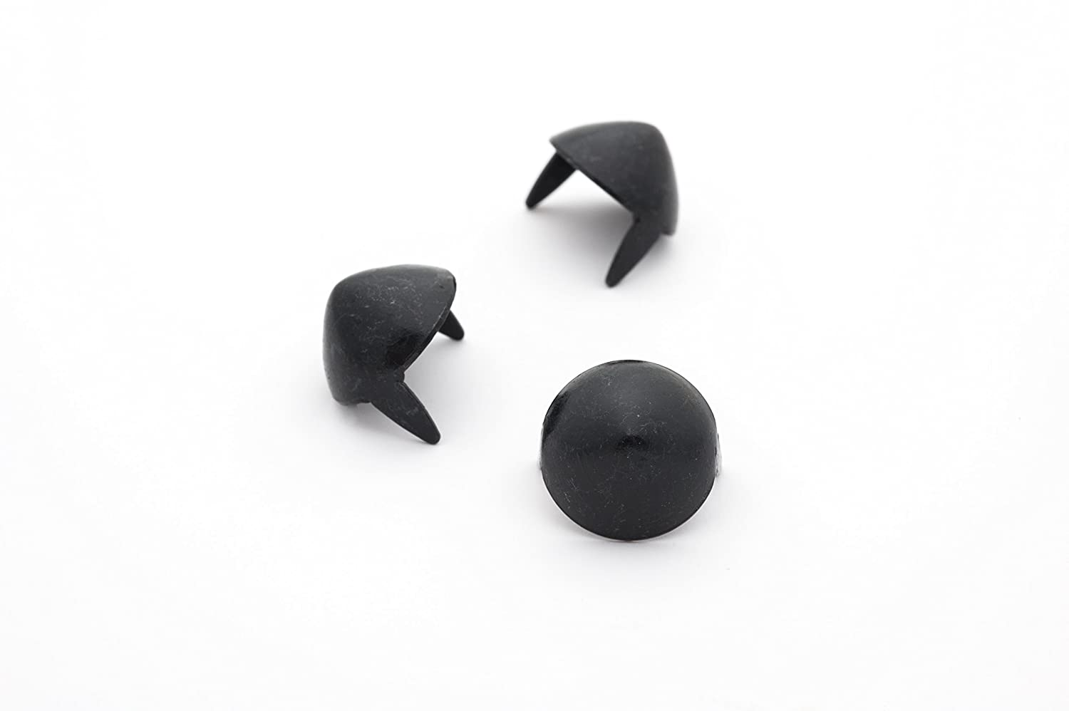 Cone Studs - Size 13 - Ideally used for Denim and Leather Work - Classic Two-Prong Studs - Black - Pack of 100 studs and spikes StudsAndSpikes