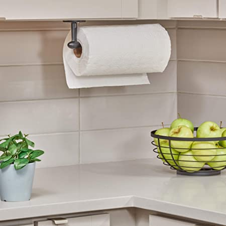 InterDesign Orbinni Porta rollo | Portarrollos de pared para un rollo | Sencillo soporte para papel de cocina | Metal negro: Amazon.es: Hogar