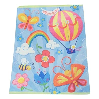 Impact Innovations Spring Reusable Window Clings ~ Welcome Spring Play Scene (8 Pre-Cut Clings, 1 Sheet): Toys & Games