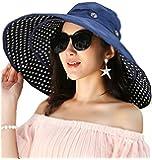 Ihomey cappello da sole extra-large reversibile, ripiegabile e modellabile, a tesa larga, UPF 50+, cappello estivo per la spiaggia