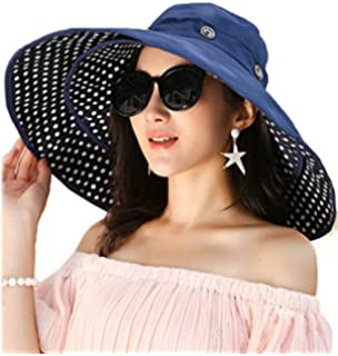 038bb6b6 iHomey Packable Shapeable Extra Large Brim Floppy Sun Hat Reversible UPF  50+…