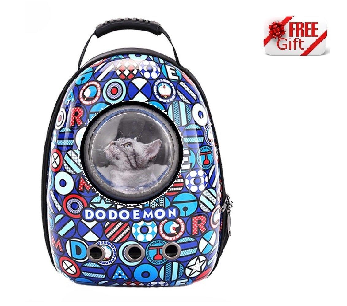 Ducomi Lightyear Sac à dos rigide avec hublot pour chats et chiens–Maximum Confort et stabilité Pendant Promenade et transports en avion–44x 30x 25CM–Sympathique Gadget en cadeau