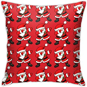 WUTAI Throw Pillow Covers 18x18 Inch Funny Dabbing Santa Claus Christmas Dab Double-Sided Digital Printing Couch Square Pillowcase Distinct Office and Home Decor 18 x 18 in