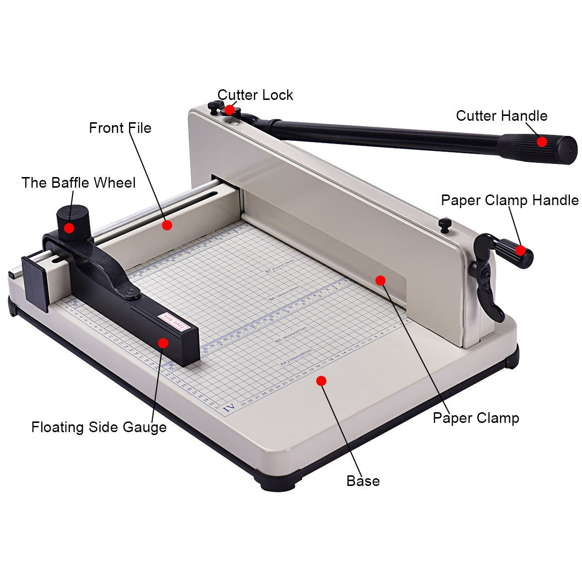 Giantex A4 Paper Cutter Office Home Heavy Duty Guillotine Trimmer Cutting Machine 400 Sheets (12 inch) by Giantex (Image #2)