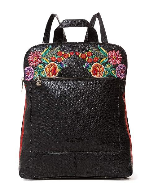 Desigual - Bag Mex Nanaimo Women, Bolsos mochila Mujer, Negro, 11x35x28 cm (