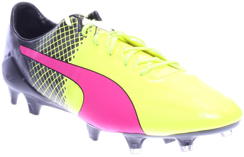 PUMA evoSPEED 1.5 FG Soccer Cleat (Sz. 10.5) Pink, Yellow