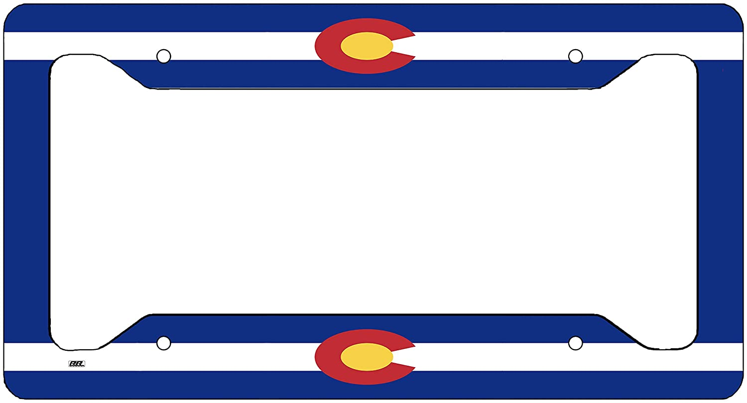 Rogue River Tactical Colorado State Flag License Plate Frame Novelty Auto Car Tag Vanity Gift CO VV243