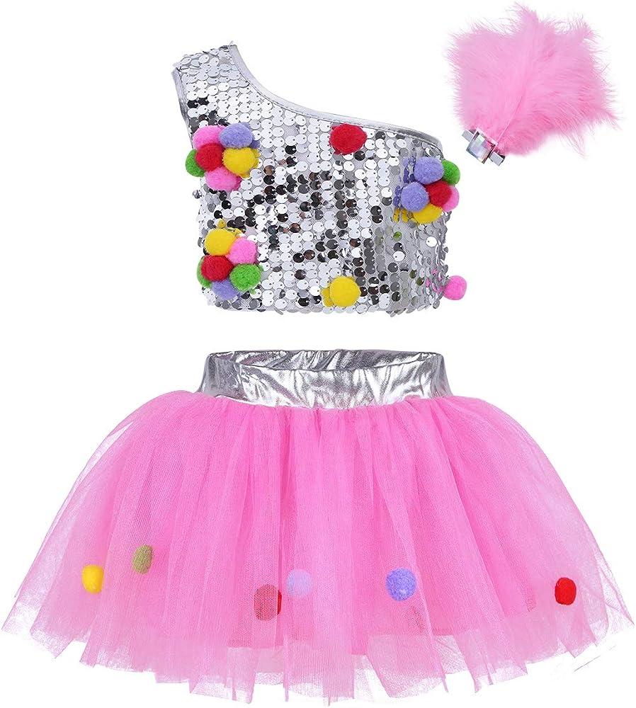 Freebily 3Pcs Vestido de Danza Ballet con Lentejuelas para ...