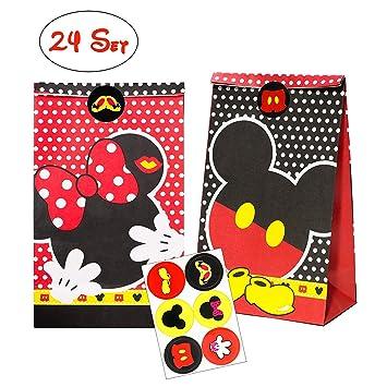 Amazon.com: MALLMALL6 Bolsas de papel para regalos de Mickey ...