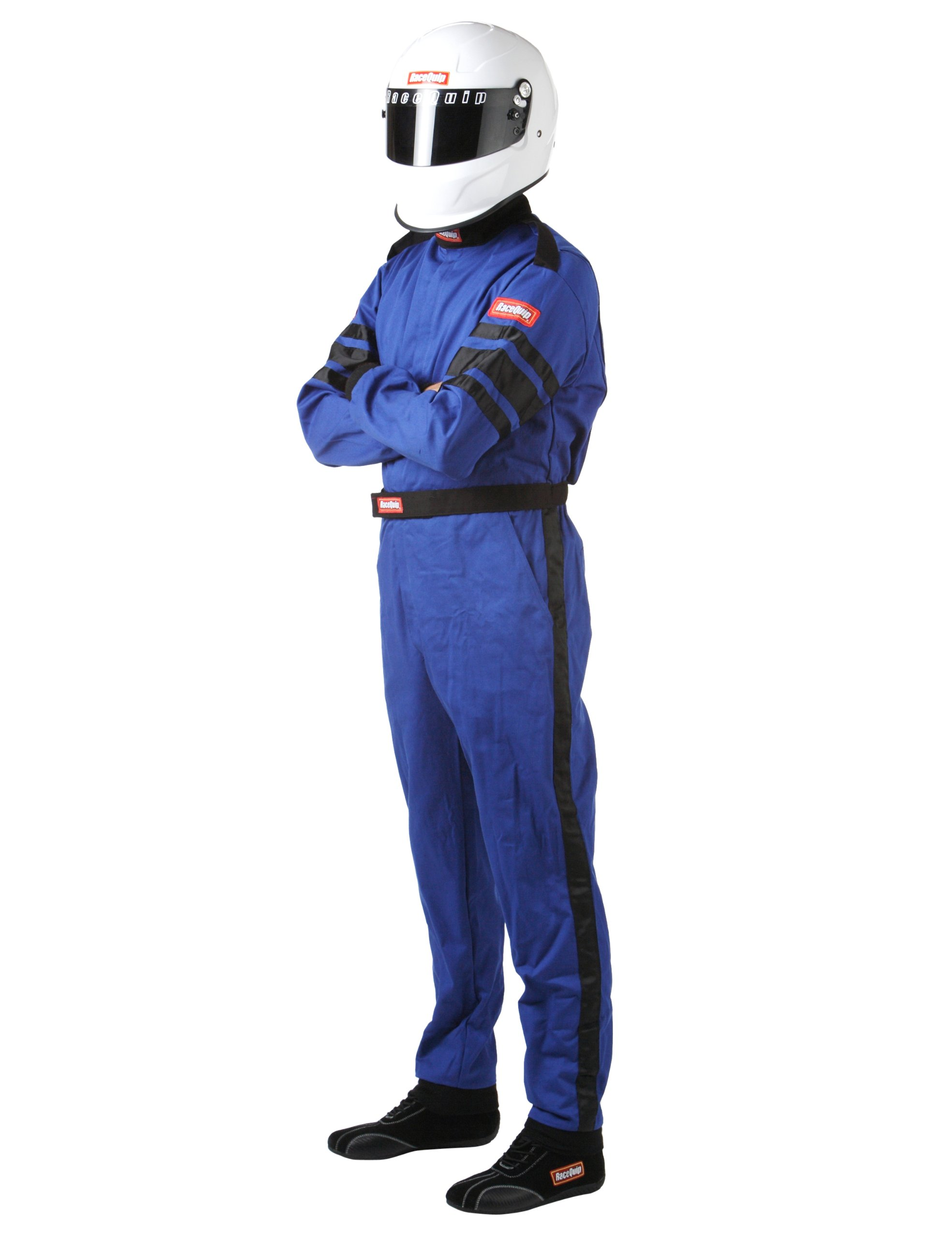 RaceQuip 110027 110 Series XX-Large Blue SFI 3.2A/1 Single Layer One-Piece Driving Suit