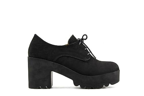 Blucher Modelisa Es Amazon 40 Stq6sr Mujer Y Negro Zapatos Tacón wpwqf
