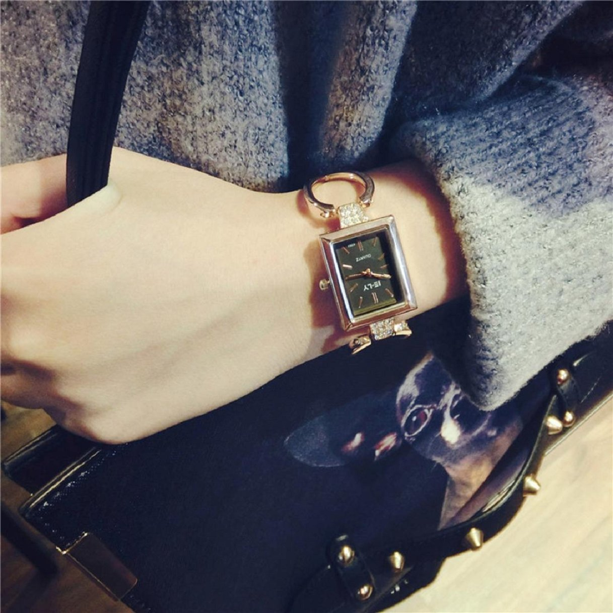 Amazon.com: Women Watch, Lookatool Fashion Female Bracelet Rectangular Fashion Temperament Watch: Lookatool: Watches