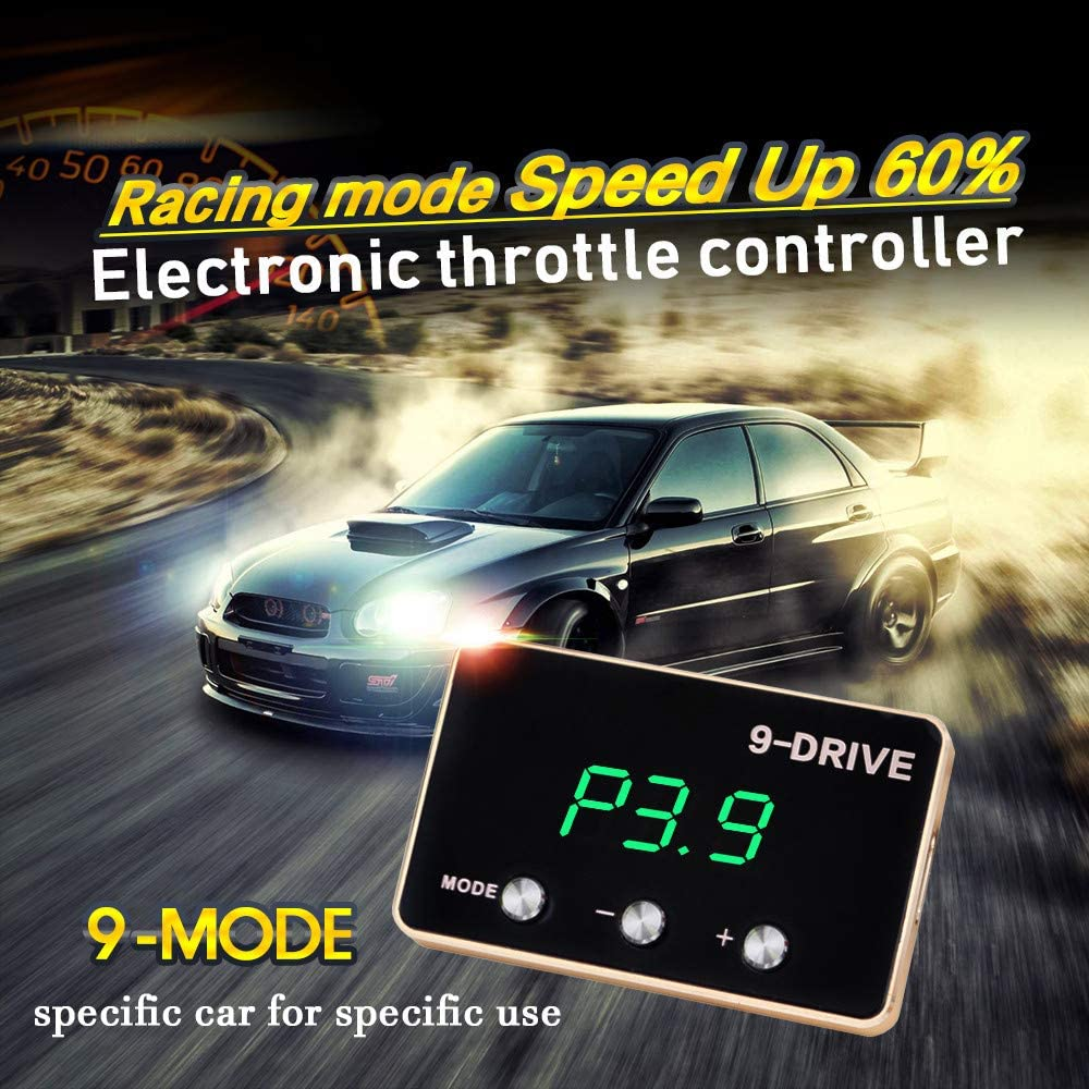 iKiKin Car Electronic Throttle Response Controller 9 Drive Modes Racing Accelerator Potent Booster Tuning Parts Accessory for Mustang 2005-2019 F-150