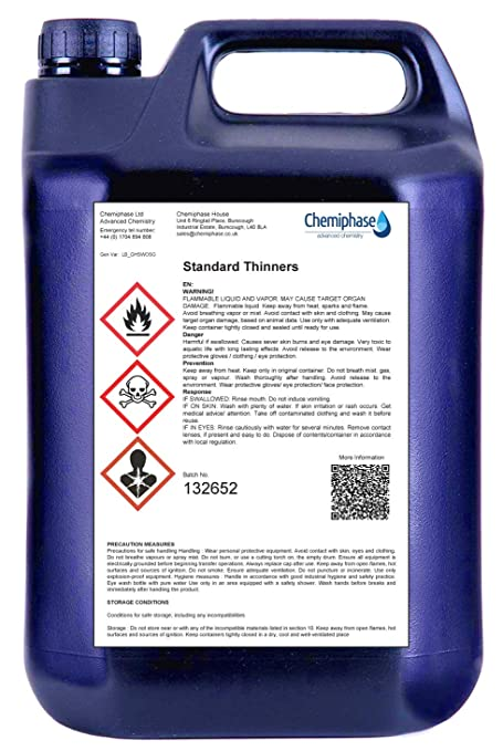 Standard Paint Thinner - Cellulose Gunwash 1 x 5 litres