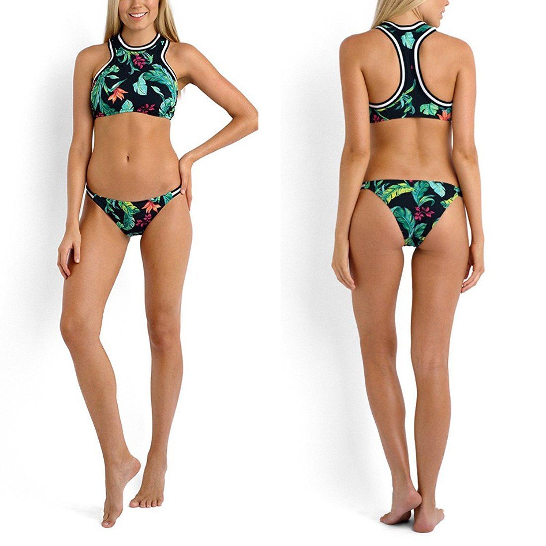 sitengle Para Mujer Bañador Traje de Baño Deporte Halter Push Up Atractivo Bikinis Conjuntos Ropa de Baño Beachwear Swimsuit Swimwear Dos Piezas con ...