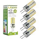 Liqoo® 4x G4 GU4 LED Lampe 2.5W Ersetzt 20W Warmweiß 200LM 3000K 12V DC/AC 48 x 3014 SMD Stiftsockel