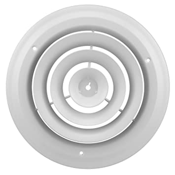 Accord ABCDWH08 Round Ceiling Diffuser, 8 Inch, White