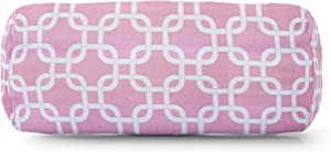 """Majestic Home Goods Soft Pink Links Indoor Round Bolster Pillow 18.5"""" L x 8"""" W x 8"""" H"""