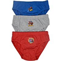 Aumsaa Garçons Enfants Personnages 100% Culotte Coton sous-vêtement Combinaisons Pantalon Pack de 3
