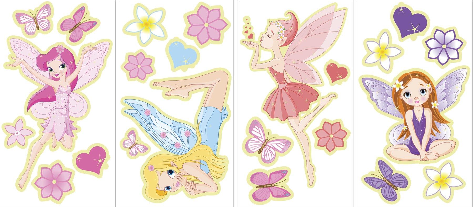 Amazon.com: Fairy Flowers Garden Decorative Peel & Stick