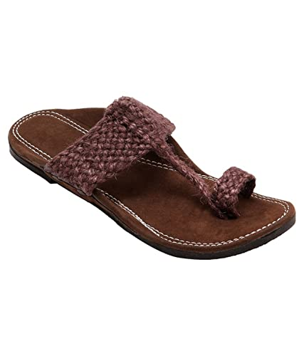 56f3c6087 Gras solution Jute Slippers In Brown Colour Size  Buy Online at Low Prices  in India - Amazon.in
