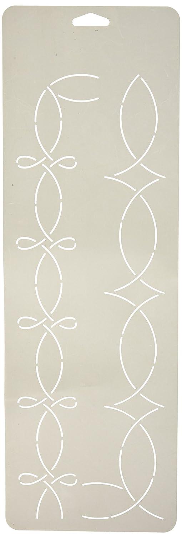 Sten Source Quilt Stencils, 2-Inch Border, 6-Inch x 18-Inch Notions - In Network W-1611