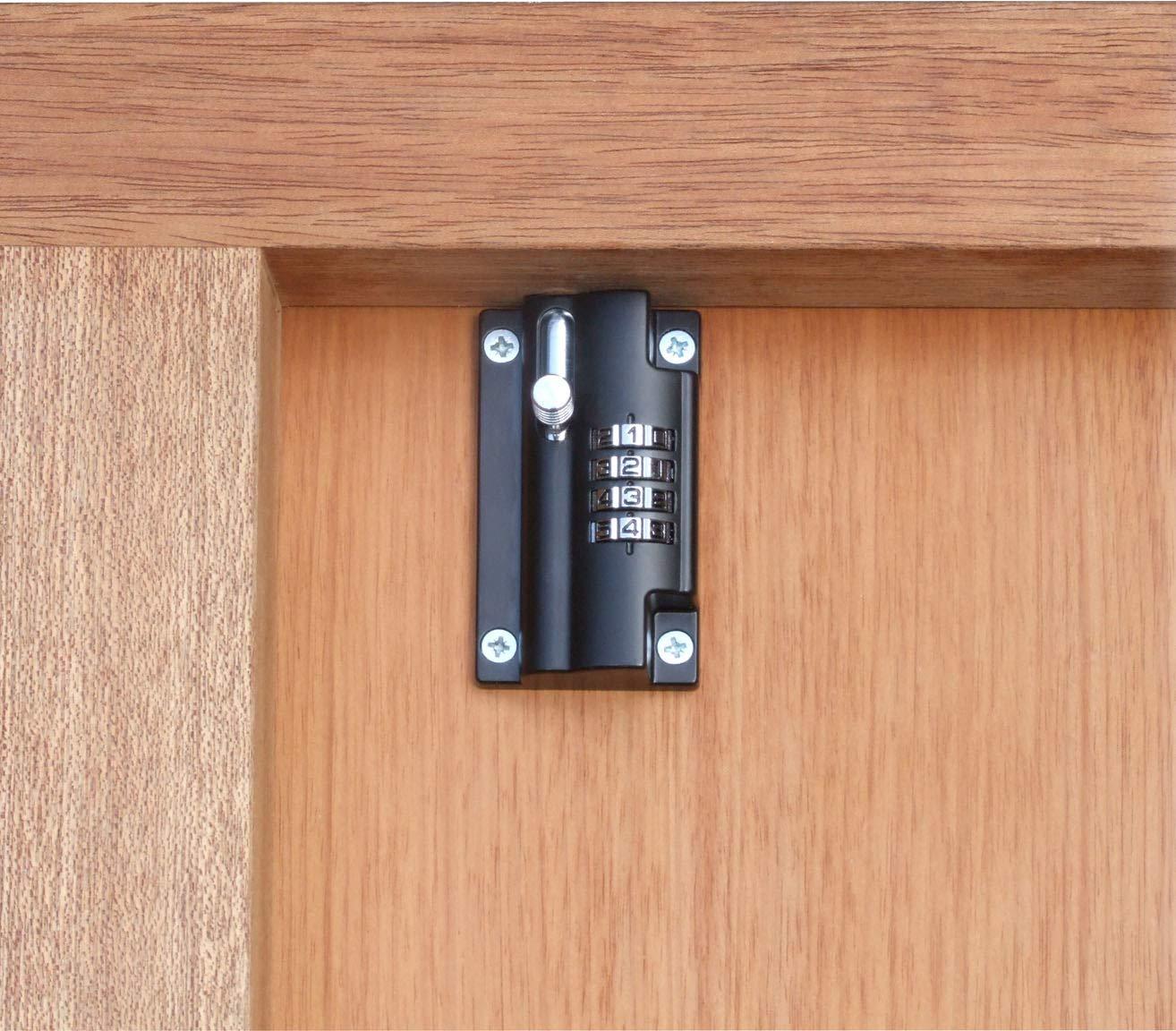 Black 2 X 110mm Combination Locking Bolt
