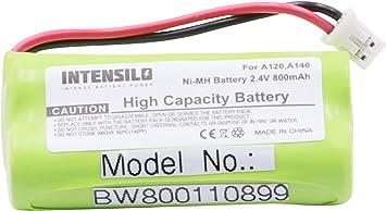 INTENSILO NiMH batería 800mAh (2.4V) para inalámbrico Fijo teléfono Siemens Gigaset AL110, AL110 Duo y V30145-K1310-X359, V30145-K1310-X383.: Amazon.es: Electrónica