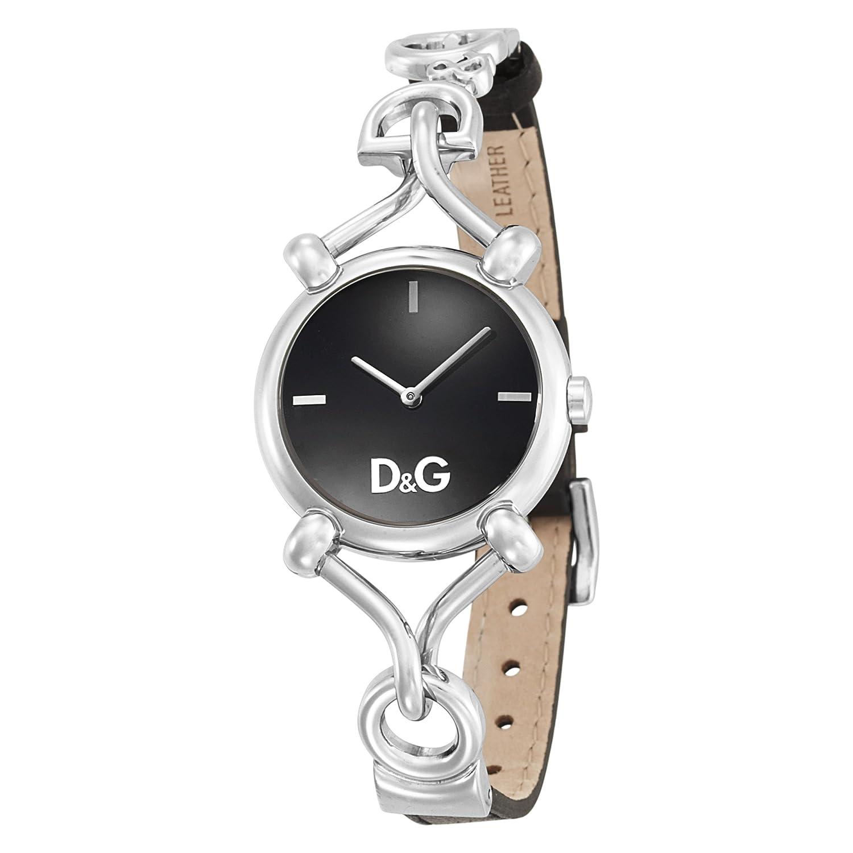 Dolce & Gabbana DW0496 - Reloj de mujer de cuarzo, correa de piel color negro: Amazon.es: Relojes