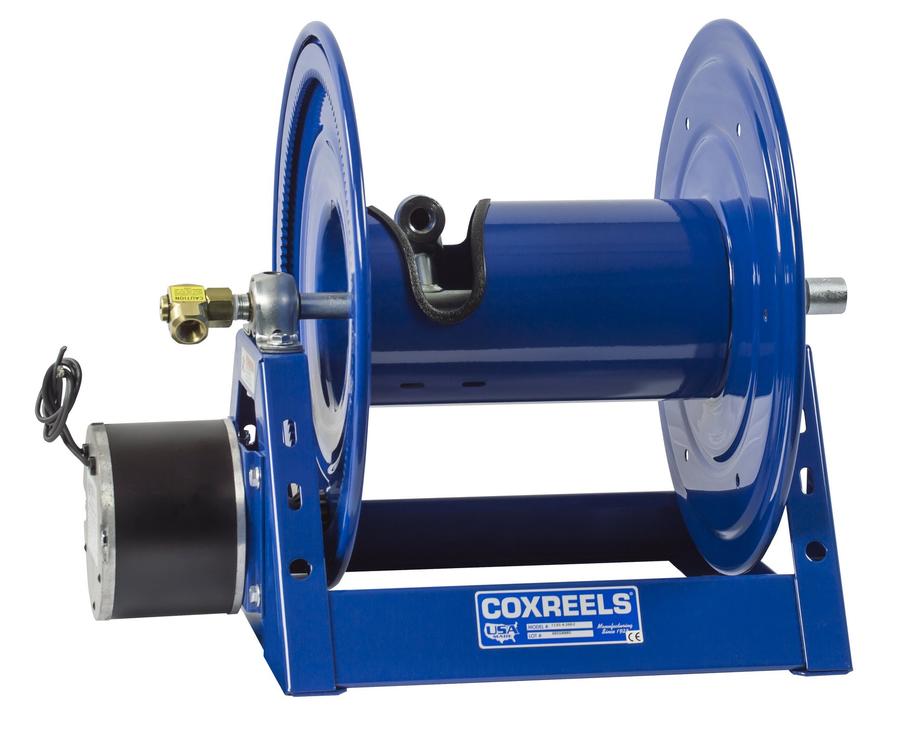 Coxreels Competitor Series Motorized Reel, Model# 1125-4-325-E, 1/2'' Hose ID, 325' Length