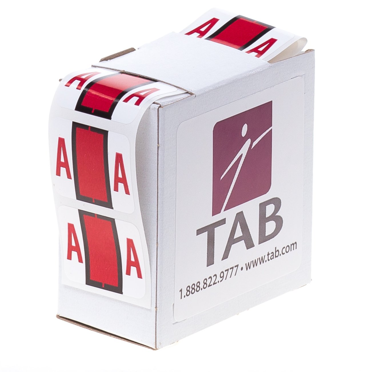 TAB Alphabetic Folder Label Roll 1 E Dark Green 500 Labels//Roll