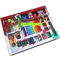 Hihere Fidget Toys 24 dagen kerst adventskalender Pack Anti Stress Speelgoed Kit Stress Relief Figet Toy Blind Box Kids…