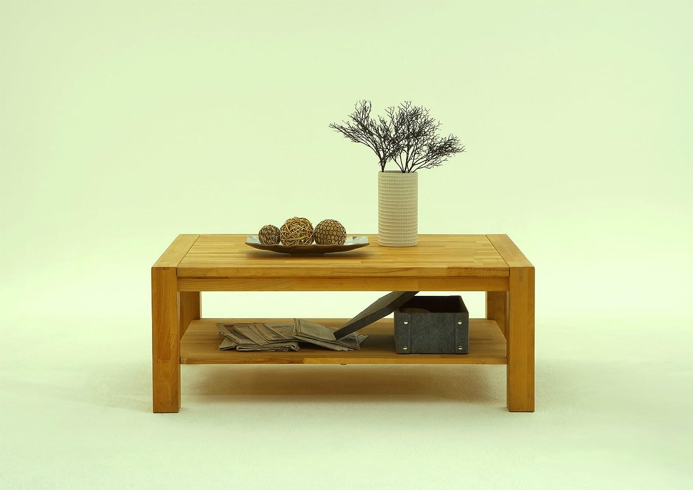 Couchtisch eiche massiv geölt 115 x 65 cm neu: amazon.de: küche ...