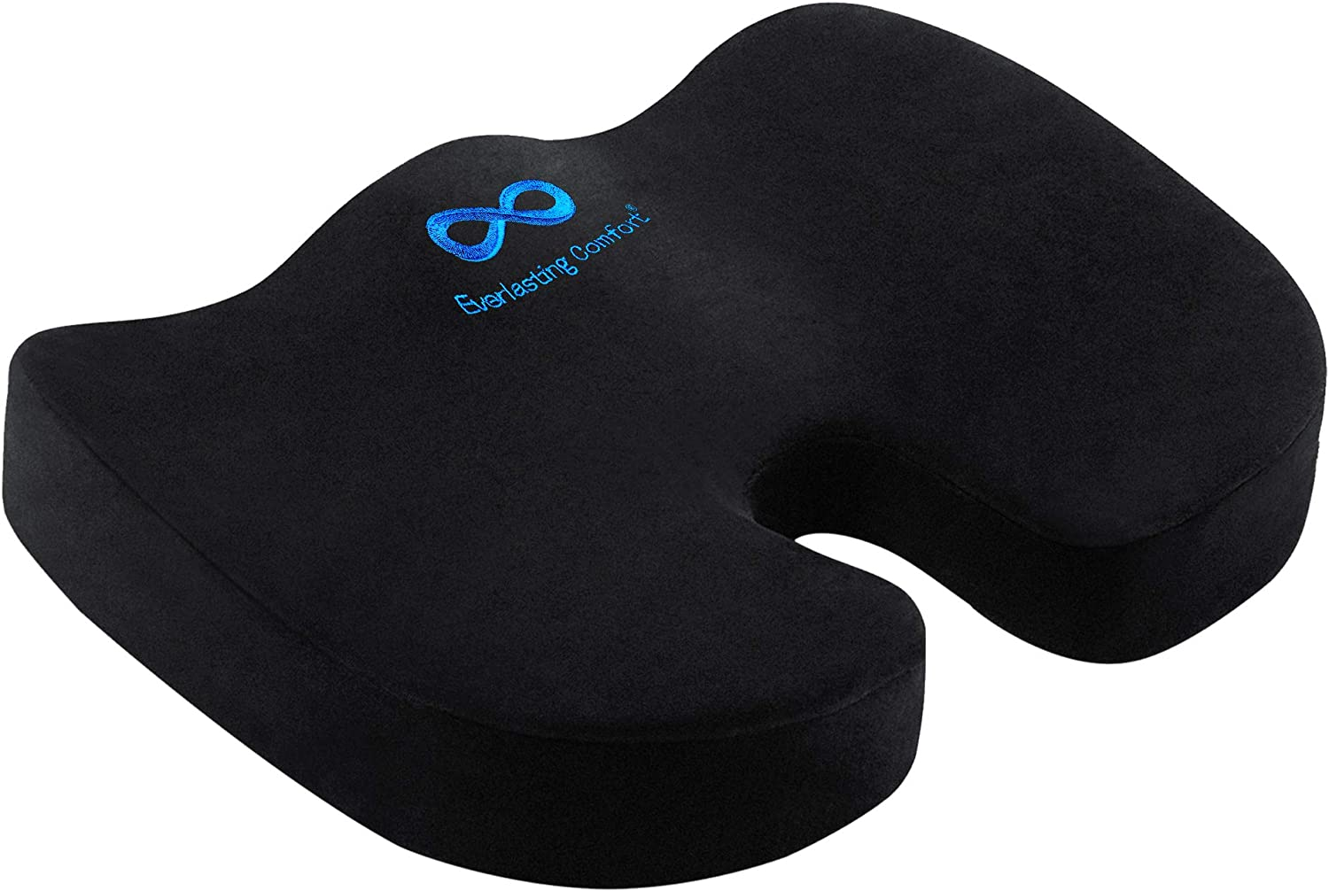 Amazon.com : Everlasting Comfort Seat Cushion for Office Chair - Tailbone Cushion - Coccyx Cushion - Sciatica Pillow for Sitting (Black) : Office Products