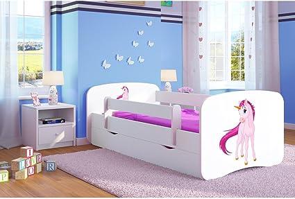 Letto Singolo Con Materasso.White Toddler Girl Kids Letto Per Bambini Principessa Letto