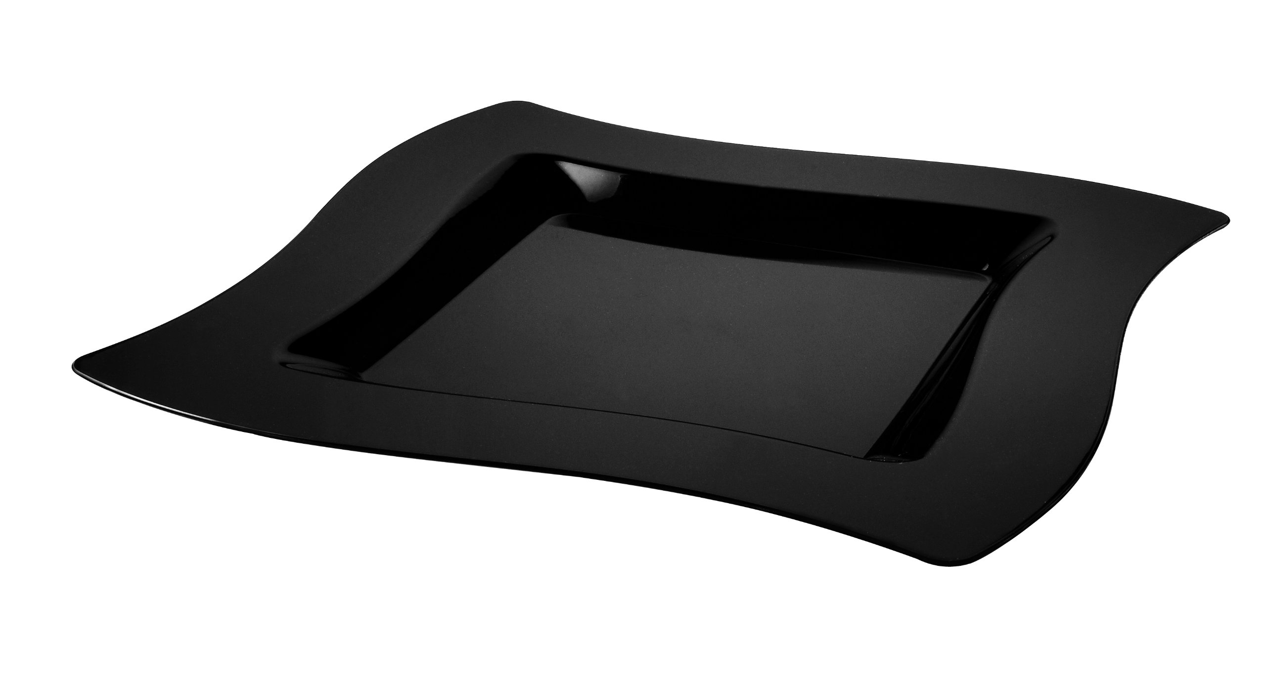 Fineline Settings Wavetrends Black Square-Wave China-Like 6.5'' Plate  120 Pieces
