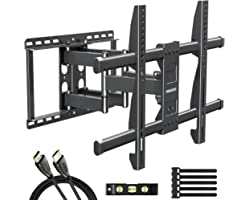 MOUNTUP TV Wall Mount for Most 43 50 55 60 65 70 Inch Flat Screen/Curved TVs, Fulll Motion TV Mount Wall Bracket with 6-Arms,
