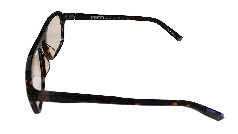222db97a04c Amazon.com  John Varvatos Men s Prescription Eyeglasses - V362 UF Tortoise  - 55 18 145  Clothing