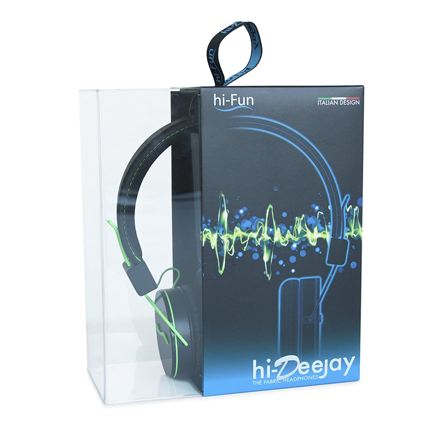 The first metal-covered headphones HI FUN HFHIDEEJAY-BGR 163 Professional headphones perfect for listening to your favorite music with an outstanding sound and talk on the phone with all your friends