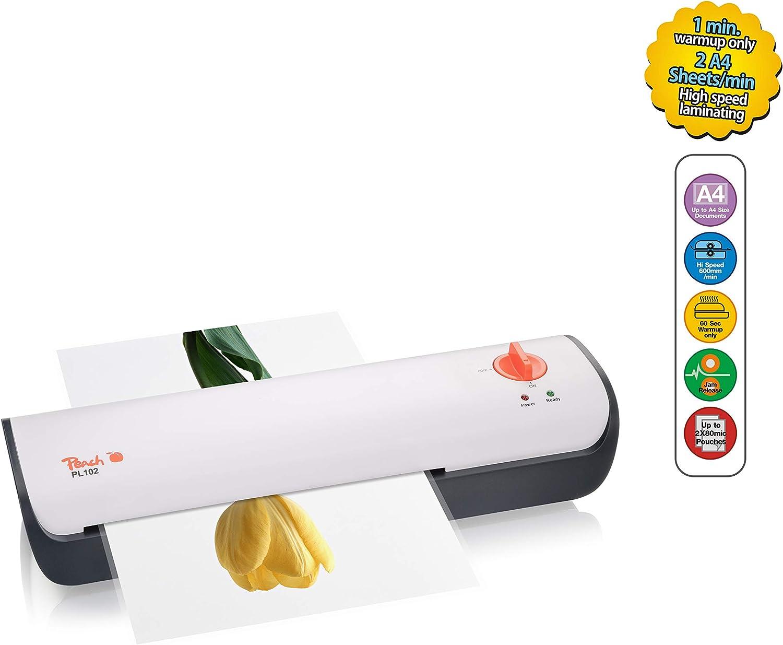 Peach Hispeed Laminiergerät A4 PL102 Heißlaminiergerät startklar in 60 Sekunden