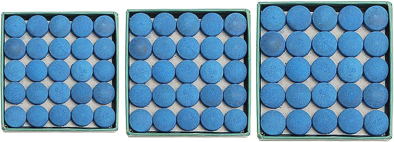 AYUN Piel 50pcs Deportivo Azul Consejos Cue-Pegamento en billares de la Piscina Consejos Cue