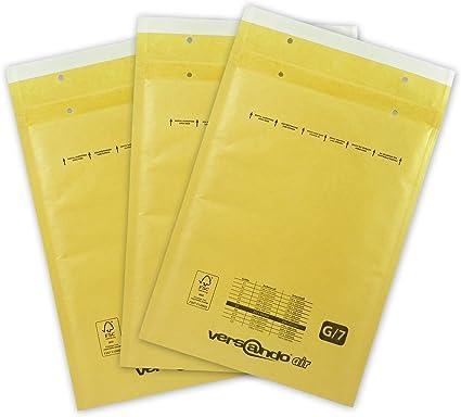 250 x 350 mm G//7 braun DIN A4 50 Luftpolsterversandtaschen Luftpolstertaschen Gr