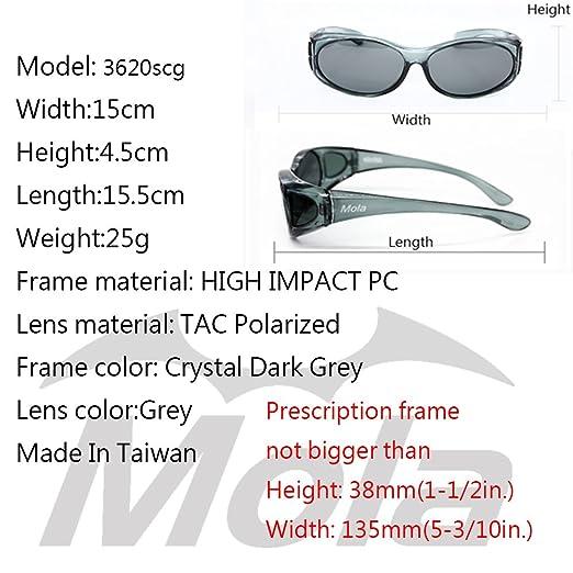95742142af MOLA polarized sunglasses over prescription glasses small men women fishing  driving Grey  Amazon.co.uk  Clothing