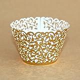 Miss Bakery's House Cupcake Wrapper (Filigrane Glänzend - Gold, 50 Stück)