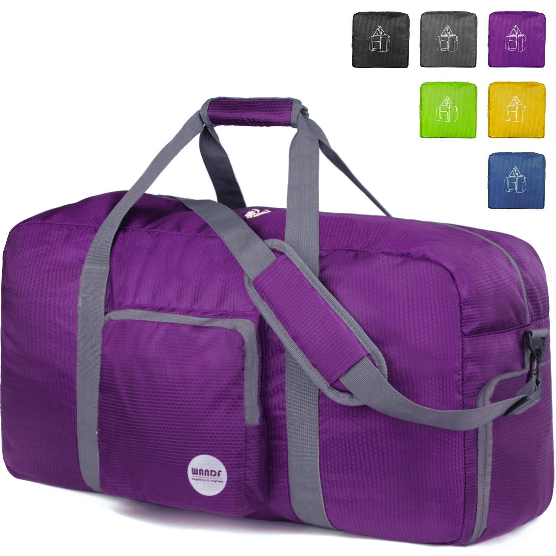 32'' Foldable Duffle Bag 100L for Travel Gym Sports Lightweight Luggage Duffel, Purple