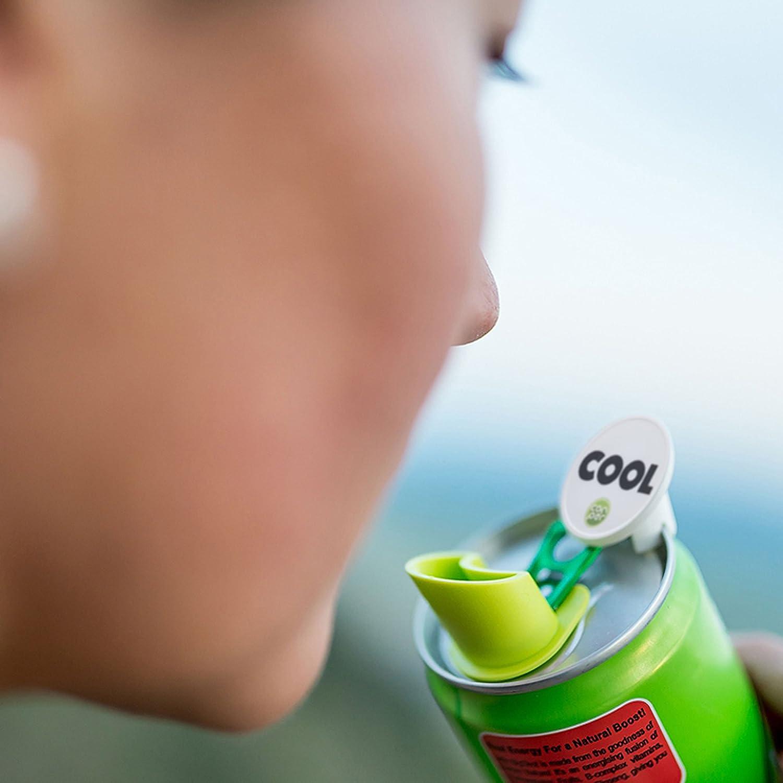 Canper es un nuevo tapón de latas reutilizable para el consumo higiénico de bebidas enlatadas - Pajita multiusos para latas de refresco (Emoji 4 Pack): ...